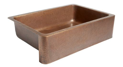 Adams Farmhouse Apron Front Handmade Copper Kitchen Sinks