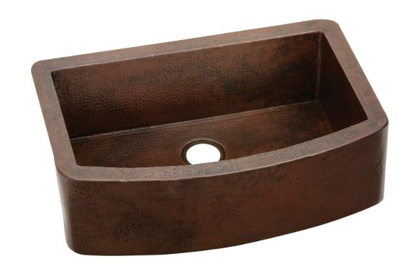 Elkay Copper Single Bowl Farmhouse Sink
