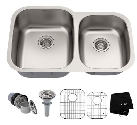 Kraus Undermount Double Bowl Kitchen Sink