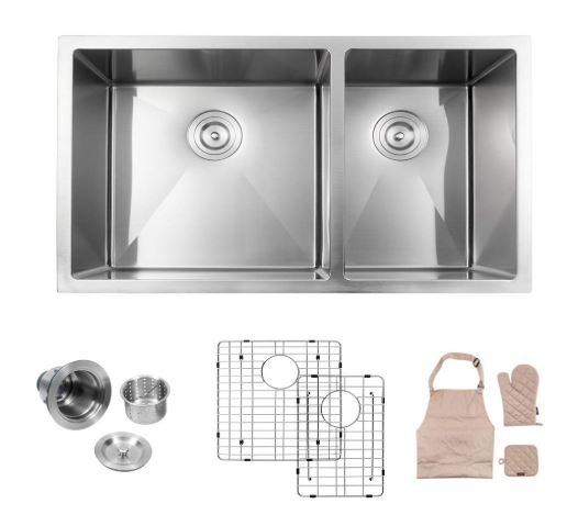 Lordear Double Bowl Kitchen Sink