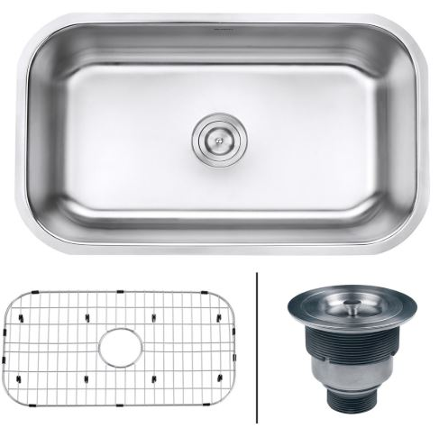 Ruvati Kitchen Sink Single Bowl