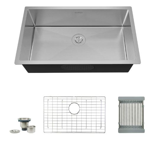 Torvo 16 Gauge Stainless Steel Kitchen Sink