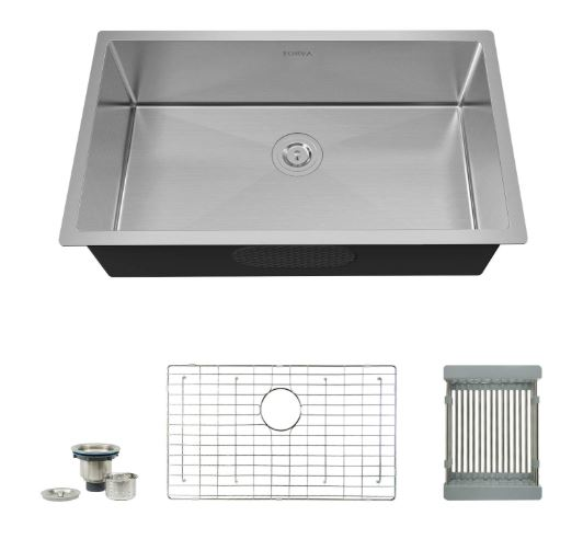 Torvo 16 Guage stainless Steel Undermpount Kitchen Sink