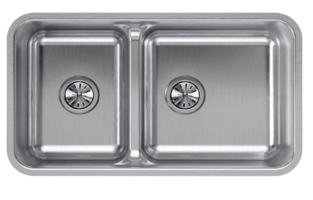 Elkay Lustertone Double Bowl Undermount Stainless Steel
