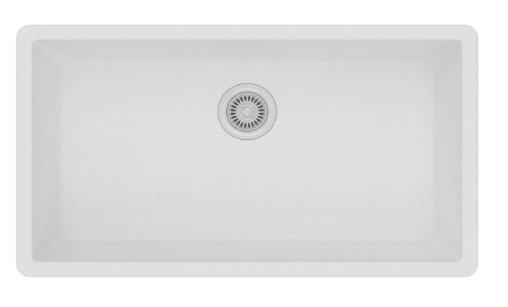 Elkay Quartz Classic White Single Bowl Undermount Sink