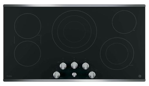 GE Electric Cooktop With 5 Radiant