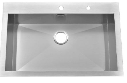 Kingo Home Commercial Extra Deep Handamde Drop In Kitchen Sink
