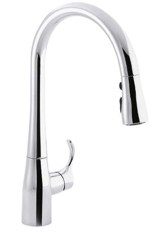 Kohler Simplice High Arch Single Hole With 3 Function Spray Head