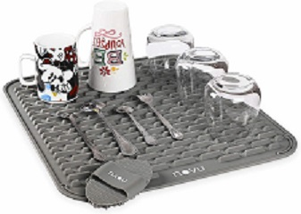 Dish drying silicon mat